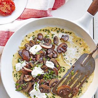 Mushroom& Basil Omelet With Smashed Tomato