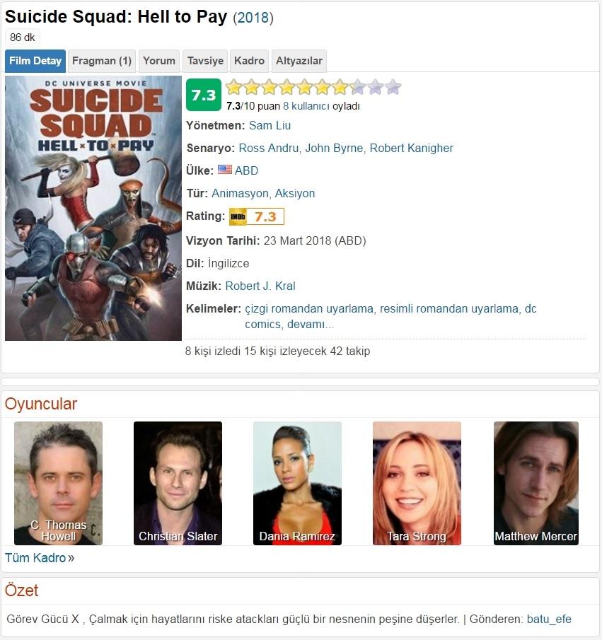 Suicide Squad Cehennemin Bedeli 2018 - 1080p 720p 480p - Türkçe Dublaj Tek Link indir