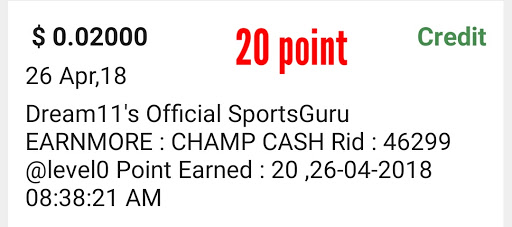 How To Complete dream 11 Official Sports Guru Offer In champ cash ?