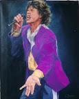 Mick Jagger 40 x 50 cm. (verkocht)