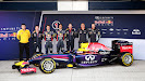 Red Bull Racing RB10 with Sebastian Vettel & Daniel Ricciardo  and Technical staff