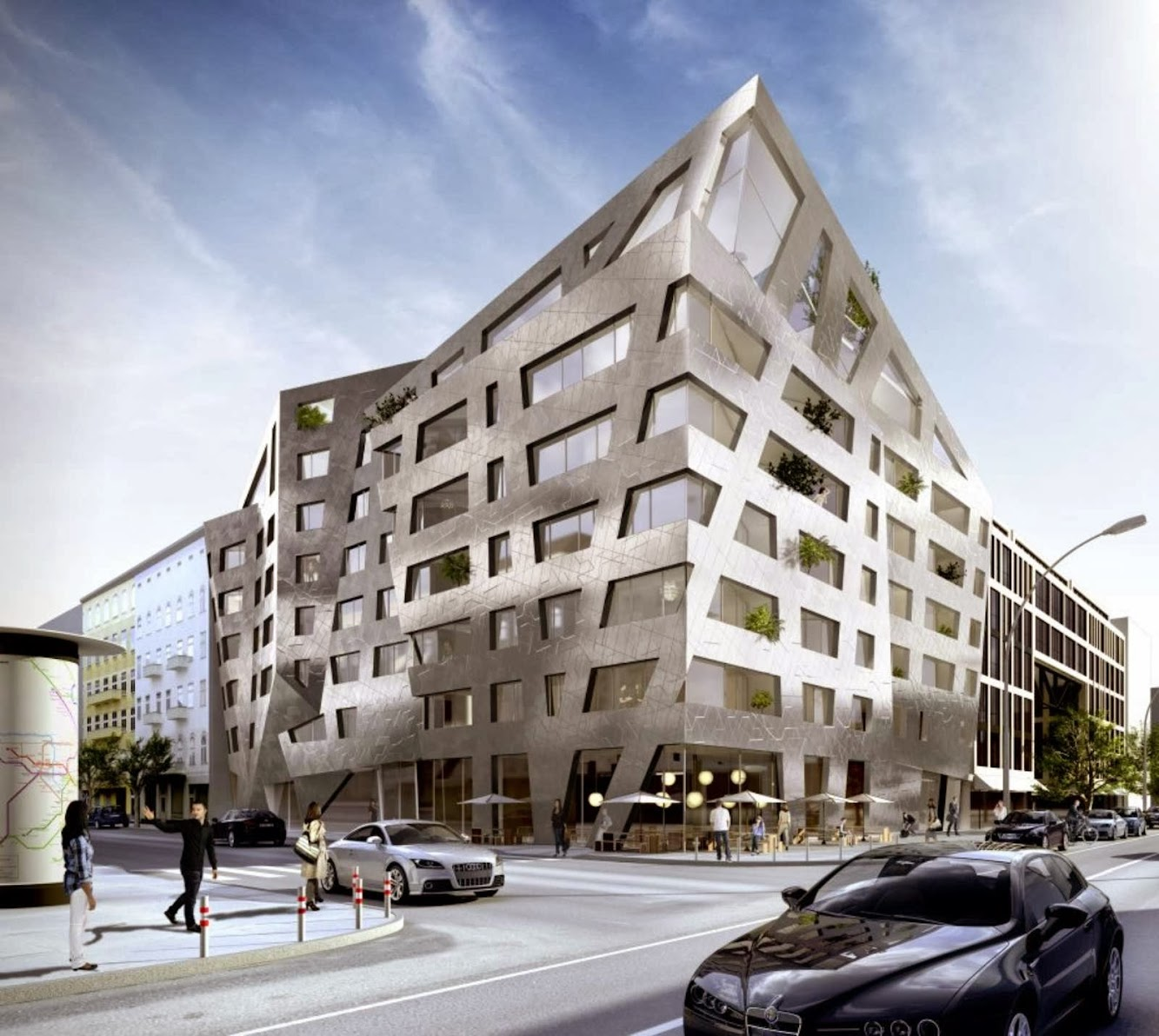 Berlino, Germania: Chausseestrasse 43 by Daniel Libeskind