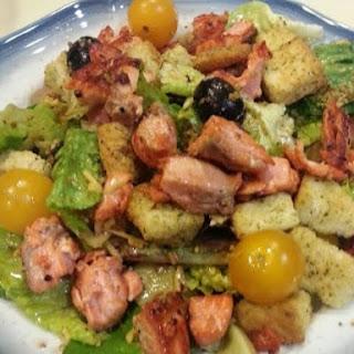 Crispy Asian Seared Salmon Salad.