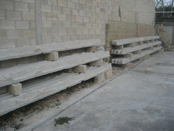 These are the girders that had to be removed because of bowing. They were set incorrectly during the initial construction of the church and in danger of giving way.