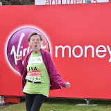 OIC - ENTSIMAGES.COM - Iva Barr The oldest competitor at the  Virgin Money London Marathon on Blackheath in London, England. 24th April 2016 Photo Mobis Photos/OIC 0203 174 1069