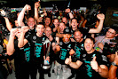 Team celebration after winning the 2014 F1 constructors championship