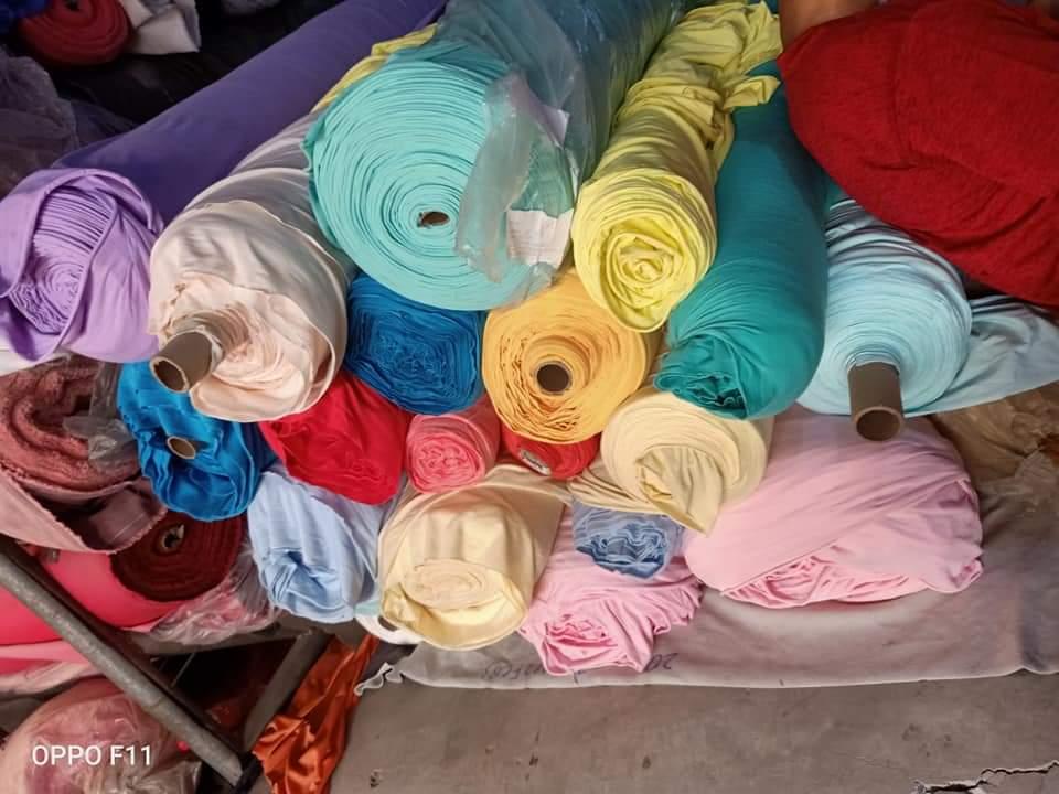 Chuyên thu mua vải cây, đầu cây, vải thanh lý công ty thun poly màu thể thao số lượng