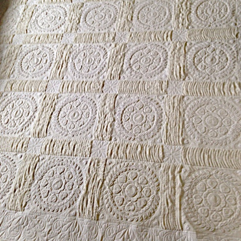 Quilting Together Vintage White Candlewick Quilt