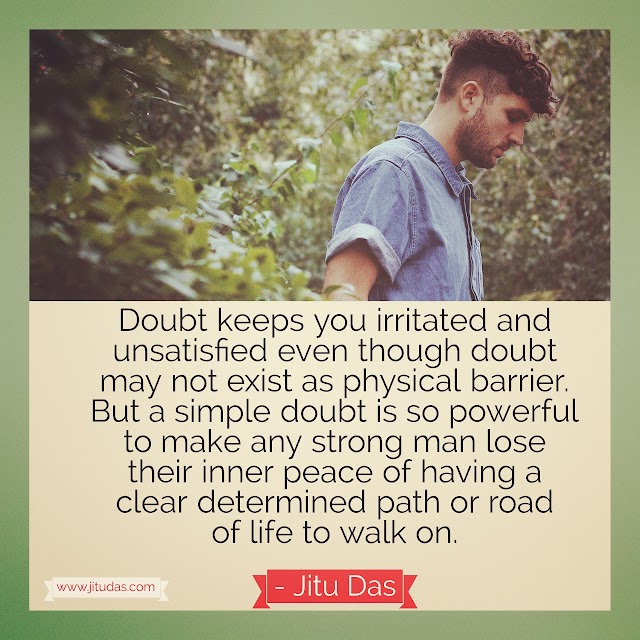 Doubt is not a physical barrier quotes by Jitu Das quotes 2018
