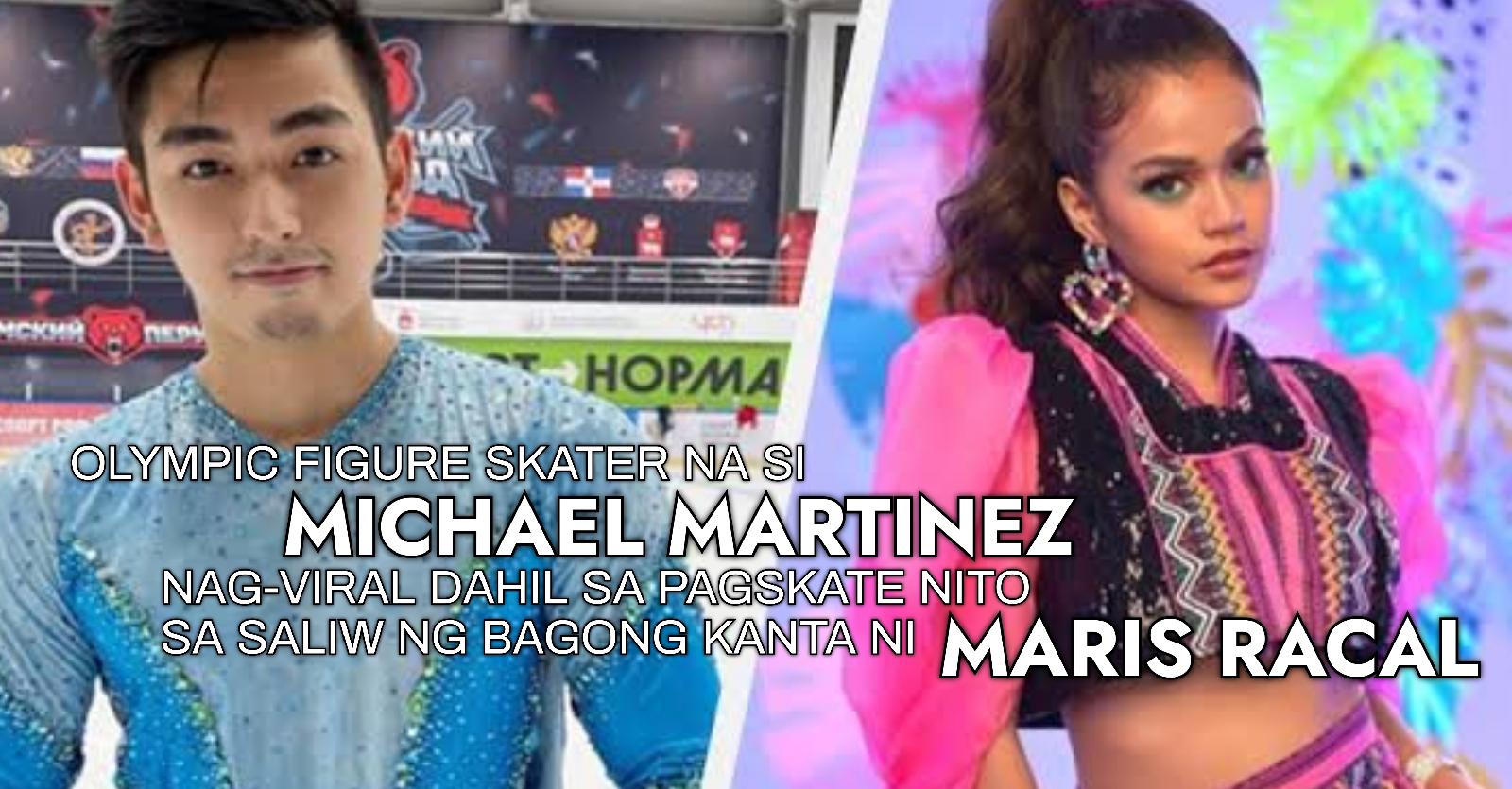 Olympic figure skater na si Michael Martinez, nag-viral dahil sa pagskate sa saliw ng bagong awitin ni Maris Racal!