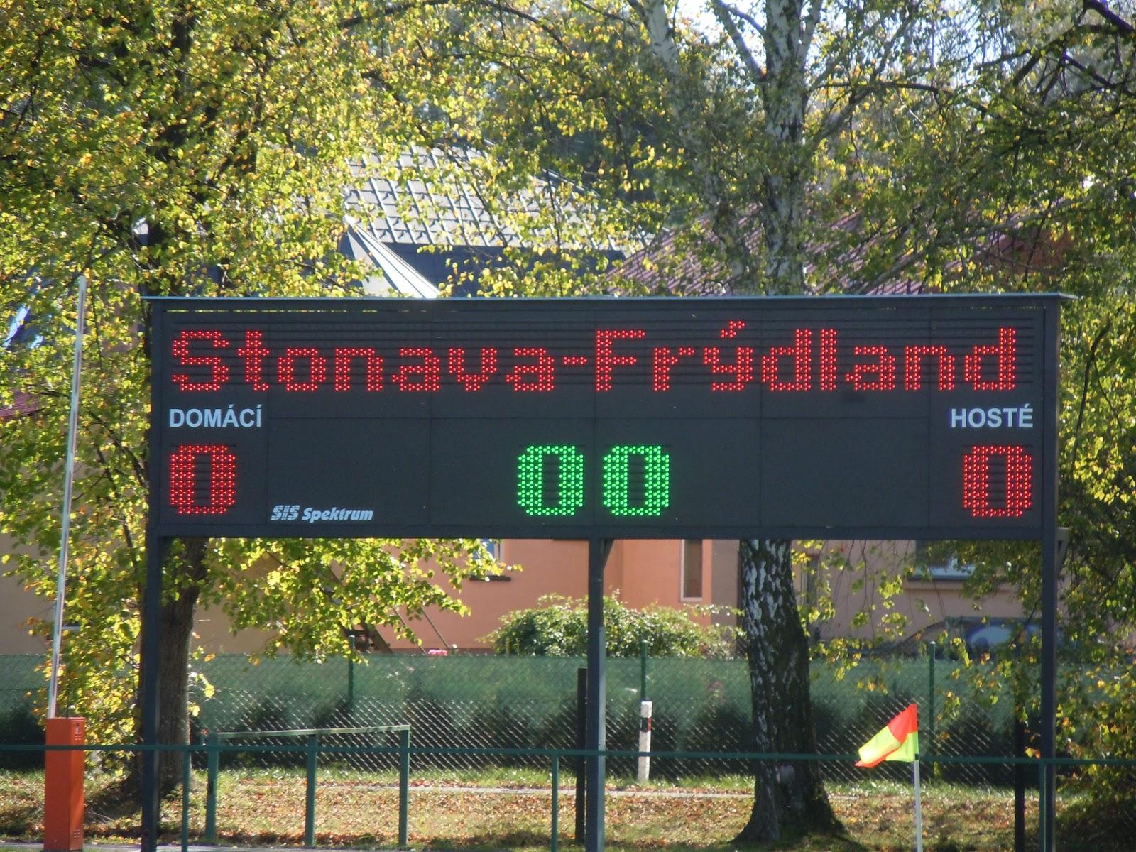 SK Stonava - 1. BFK dorost 1:2