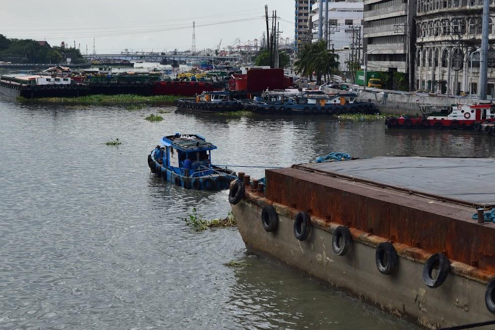 A tugboat pulling a huge load!