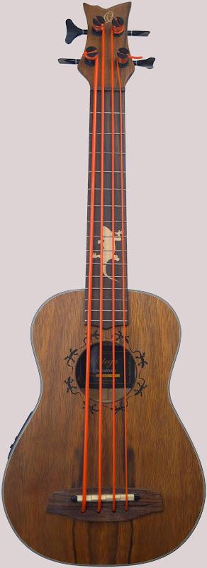 Ortega Lizard series Uke Bass