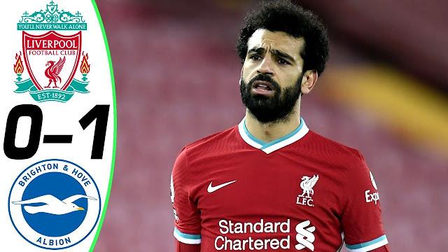 6 Statistik Dari Perlawanan Liverpool vs Brighton (4.2.2021)