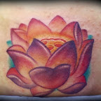 red - Lotus Flower Tattoo