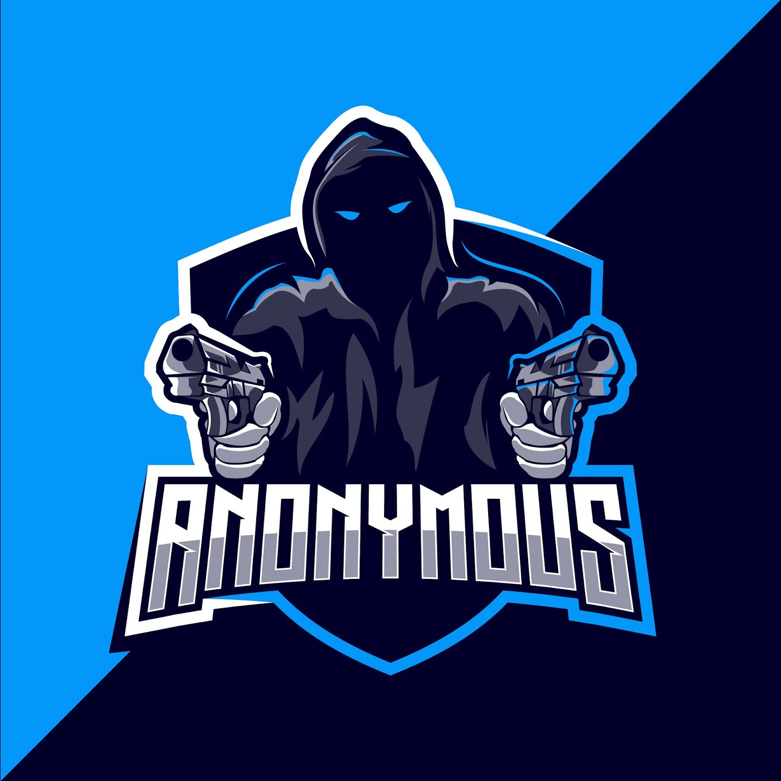 Anonymous Mascot Esport Logo Design Free Download Vector CDR, AI, EPS and PNG Formats