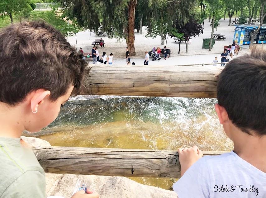 Parque Europa de Madrid con niños