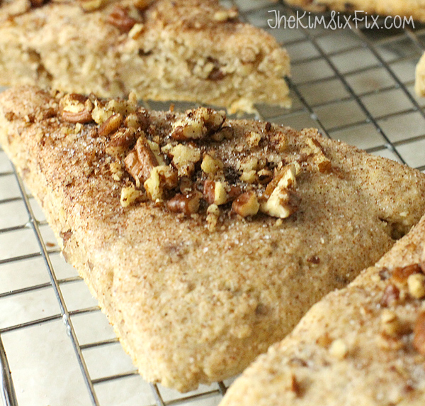 Cinnamon pecan scones