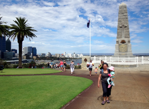 state war memorial in kings park plus a view of the city