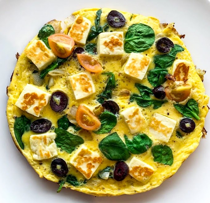 Spinach Haloumi Omelette Recipe | Breakfast Care