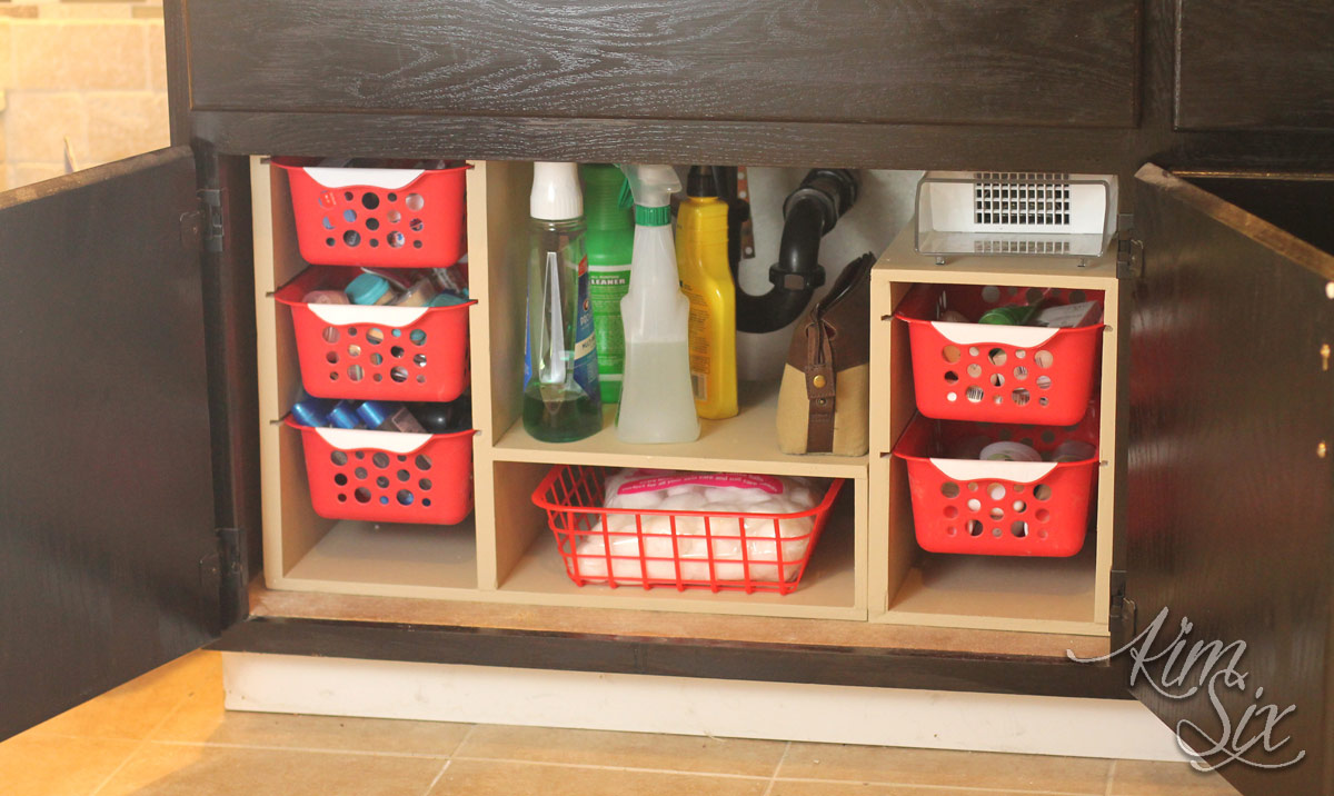 Undersink cabinet organizer with pull out baskets the Diy under counter storage