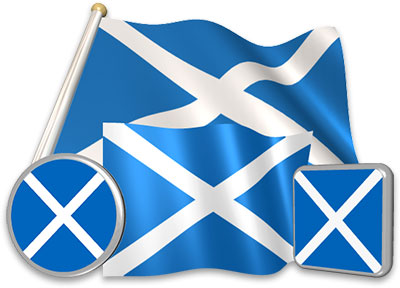 Scots flag animated gif collection