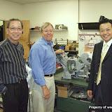 David Kim, Vicky Wong, and Michael Chan Meeting Ron Huch
