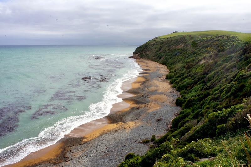 Wenn man zu anderer Zeit hier ist, watscheln tausende Pinguine über diesen Strand