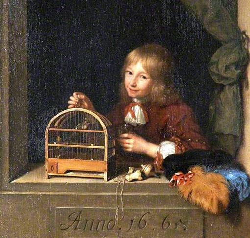 Boy with a Birdcage