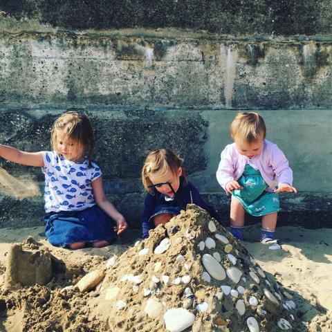 Building sandcastles on Bridlington Beach