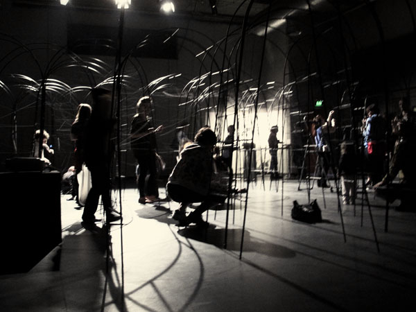 audience-collaborative work, trellis and thread, 'Eleventh Hour' by 'Archrival' at the CarriageWorks Sydney.