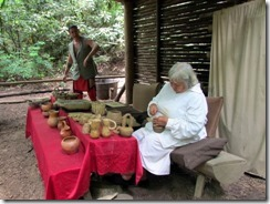 Pottery crafts at Oconaluftee Indian Village
