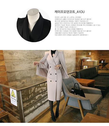 Áo khoác dạ mịn dáng dài Hàn Quốc