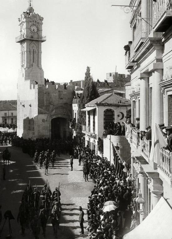 [Allenby+entry+1917%2C+troops+entering+Jaffa+Gate%2C+mat02225%5B5%5D]