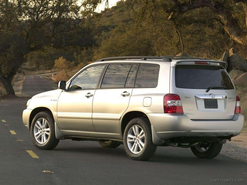 2006 toyota highlander hybrid suv specifications pictures prices. Black Bedroom Furniture Sets. Home Design Ideas