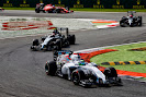 Felipe Massa, Williams FW36 Mercedes, leads Kevin Magnussen, McLaren MP4-29 Mercedes