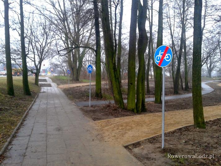 Chyba komuś pomyliły się znaki końca drogi dla rowerów z zakazem wjazdu.