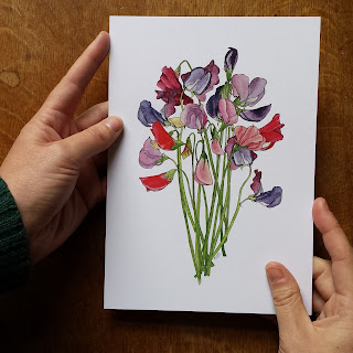 Sweet Peas print by Alice Draws The Line
