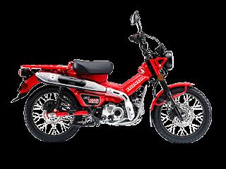 Motor Honda CT125 Warna Merah , Kamu bisa lihat di dealer motor Cibitung dan sekitarnya