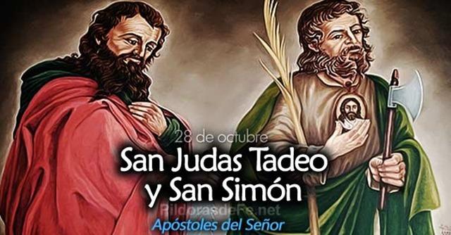 Corazón de Jesús en Vos Confío: San Simón y San Judas Tadeo 28 de Octubre