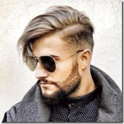 Side swept undercut mens hairstyle