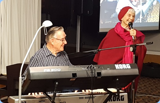 Audrey Henden joined Roy Steen for a few songs with a theme of Paris. Audrey even sang in French!