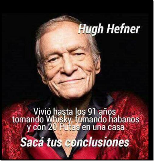 Humor Hugh Hefner fundador de Playboy