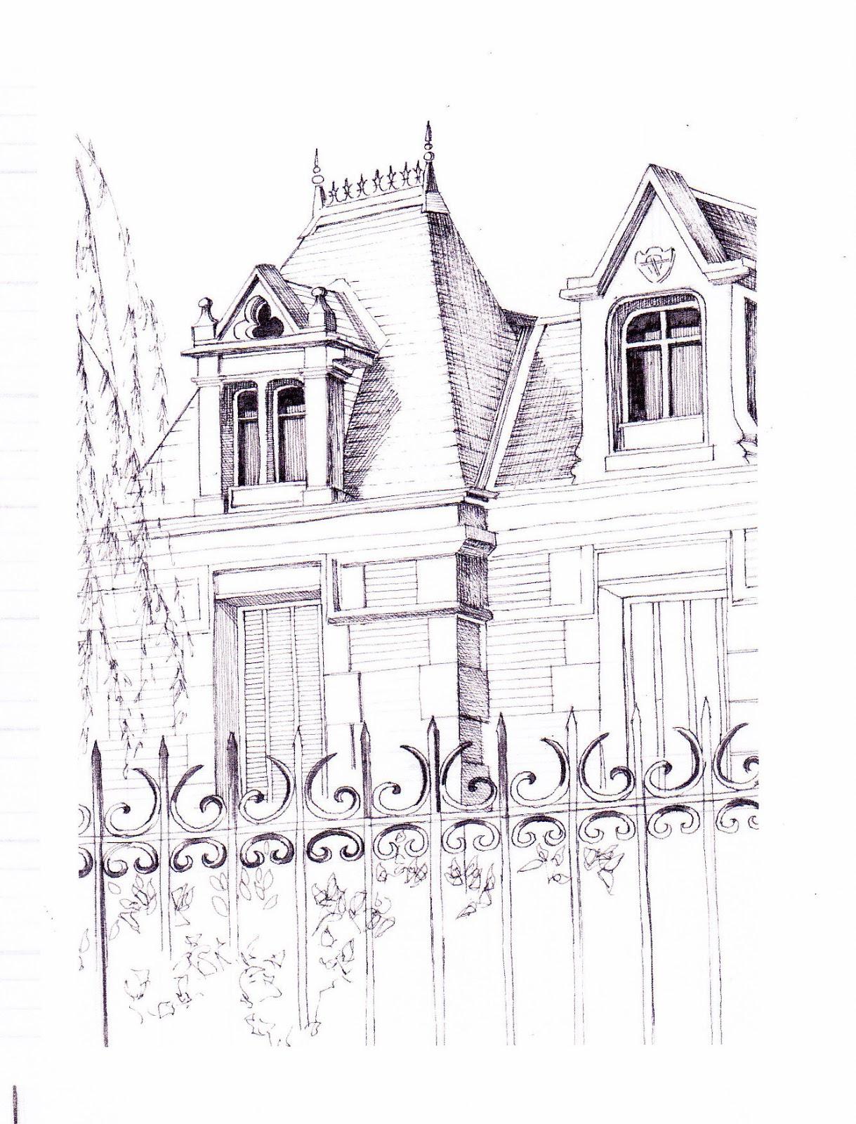 Monique lemoine dessins d 39 architecture encre sur papier for Dessins d architecture bricolage