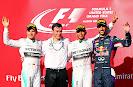 Nico Rosberg, Lewis Hamilton & Daniel Ricciardo