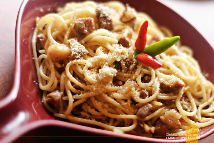 Pasta Bicolana at Legazpi's 1st Colonial Grill