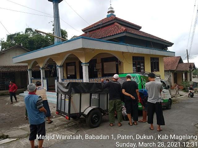 Bersih Bersih masjid di Babadan 1 , Paten, , Dukun, Kab Magelang