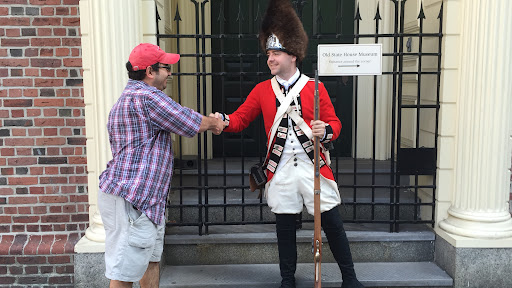 It's nice to see that even though he follows King George, and I'm for American Independence, we can still be friends!