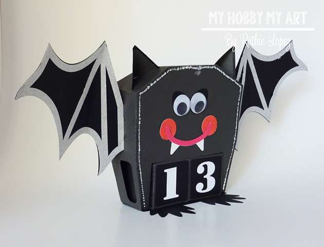 Halloween calendar, Bat, SnapDragon Snippets - Ruthie Lopez - My Hobby My Art 3