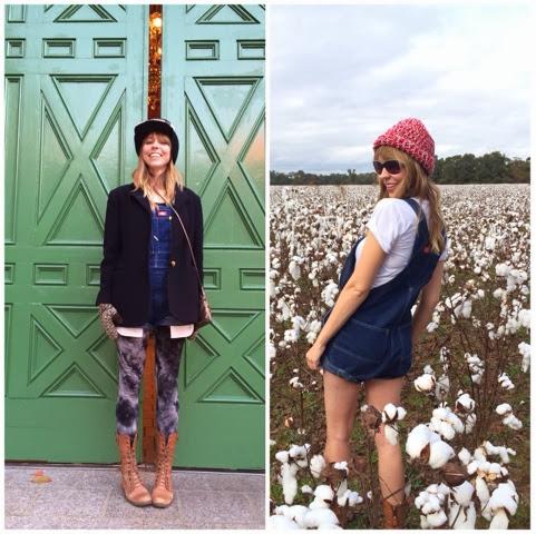 overalls, denim, wardrobe remix, road trip, hats, packing, strategic, versatile, layering